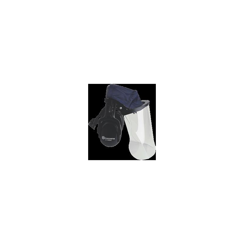 Chrániče sluchu so štítom zo sieťky